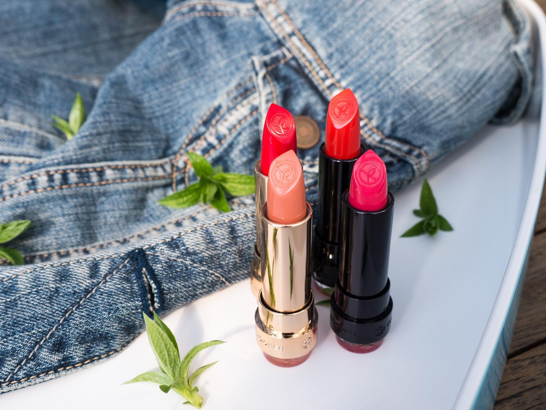 Yves Rocher recenzja/opinia na blogu: Grand Rouge, Rouge Vertige, cienie w kremie, Cienie w kredce, Sexy Pulp, Puder Zero Niedoskonałości