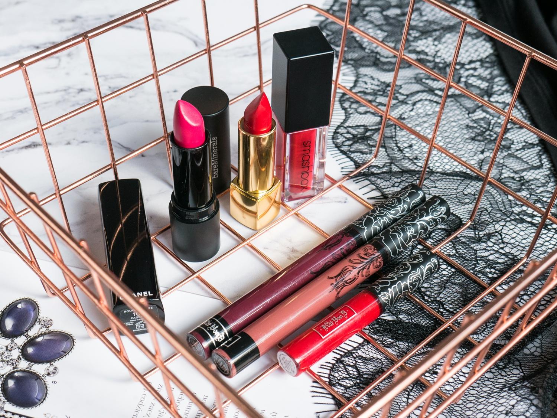 Ulubieńcy 2017 makijaż: Kat Von D Lolita, Chanel Passion Rouge Allure, bareMinerals Statement, Always On Lipstick Smashbox