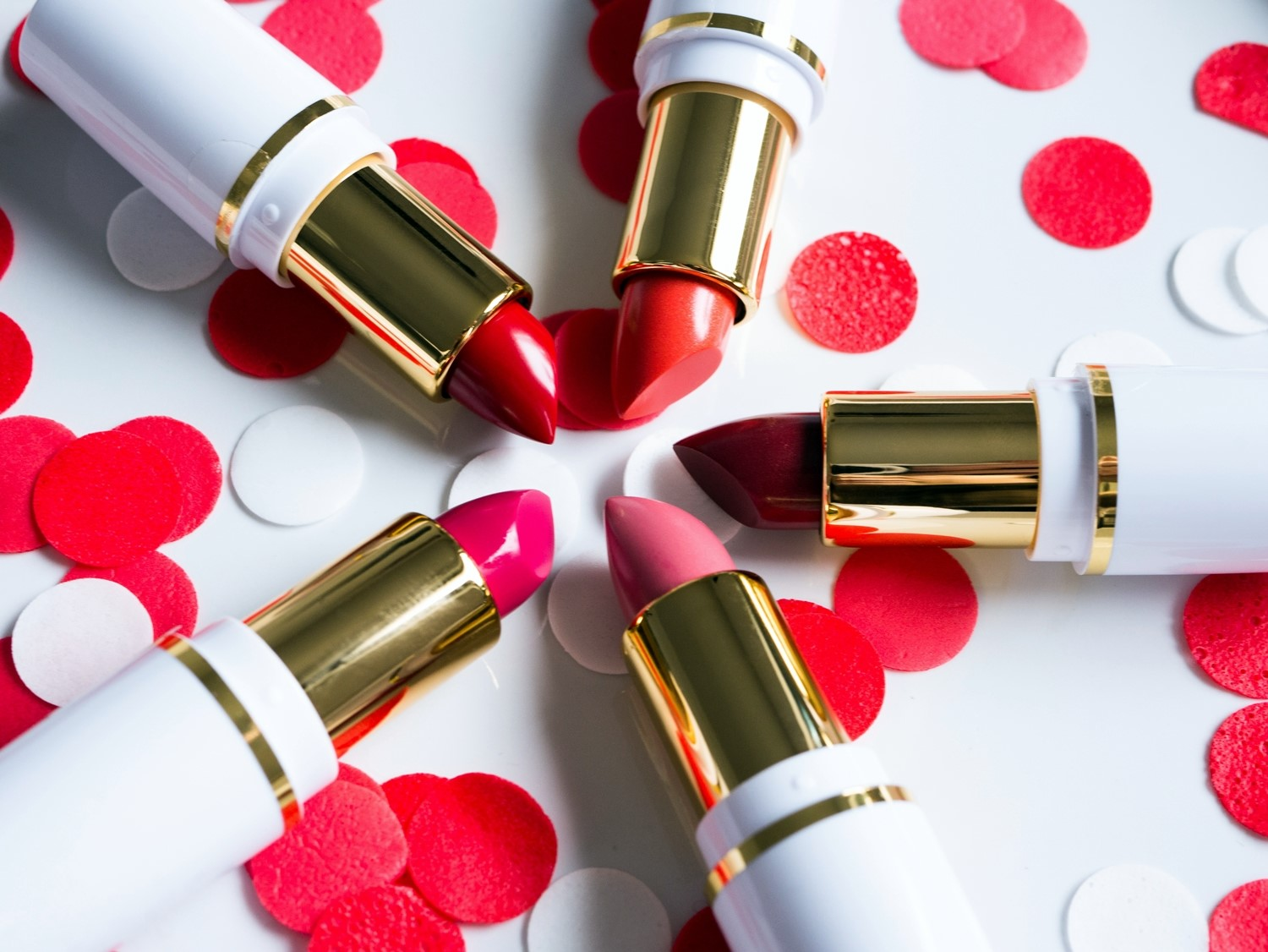 AA Wings of Colors Color Creme Lipstick 40 Cream Pink, 47 Orange Red, 48 Red Wine
