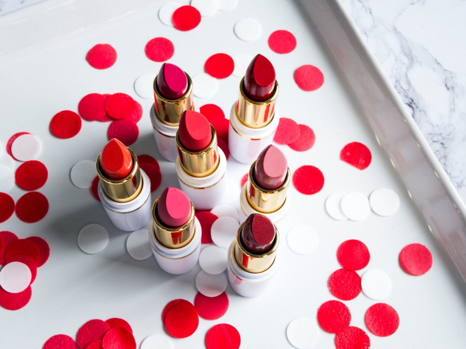 AA Wings of Colors Comfort Matte i Color Creme Lipstick 40 Cream Pink, 47 Orange Red, 48 Red Wine