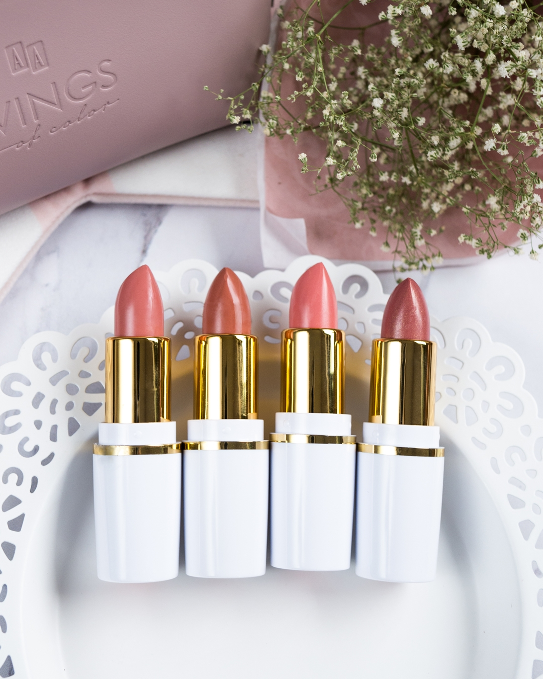 Color Creme od AA Wings of Color 87 Vanilla Nude, 88 Smoky Nude; 89 Blush Nude, 90 Glam Nude