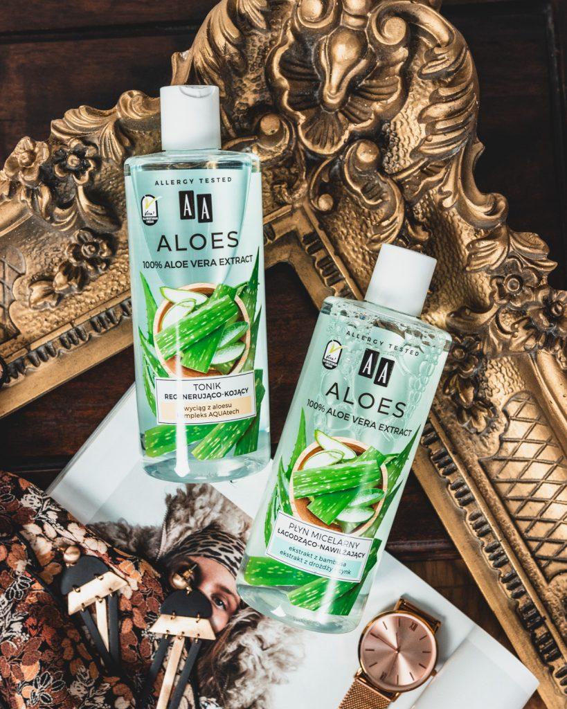 AA AA 100% aloe vera extract tonik i płyn miceralny
